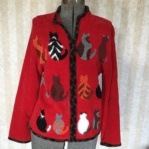 Coldwater Creek Cat Sweater